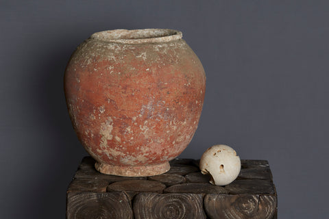 Large 17th Century Vietnamese Shipwreck Pot from Spice Trade
