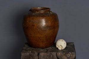 15th Century Honey Glazed Chinese Export Pot