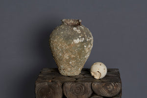 17th Century China Trade Shipwreck Jar with Damaged Lip & Shell Encrustations