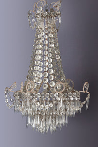 19th Century Parisian Square Cut Crystal Chandelier