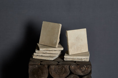 19th Century Spanish Cream Colored Encaustic Tiles