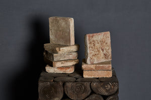 18th Century French Thick Square Burgundy Terracotta Tiles