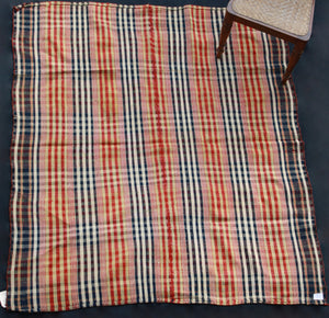 Linen And Wool Kurdish Sofra In Red Blue And Green Plaid