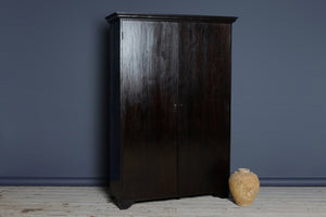 Late 19th cent Dutch Colonial Ebonized Teak Cabinet from Java