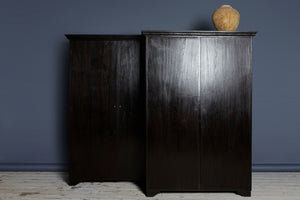 Pair of Late 19th cent Dutch Colonial Ebonized Teak Cabinet from Java
