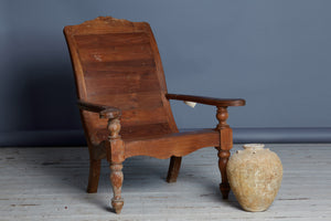 19th Century Colonial Planters Chair from Sumatra