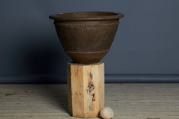 Extra Large Terra Cotta Pot with a Twisted Edge