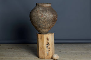 19th Century Terra Cotta Water Jar with Nice Patina