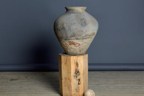 19th Century Lime Washed Terra Cotta Water Jar from Sumatra