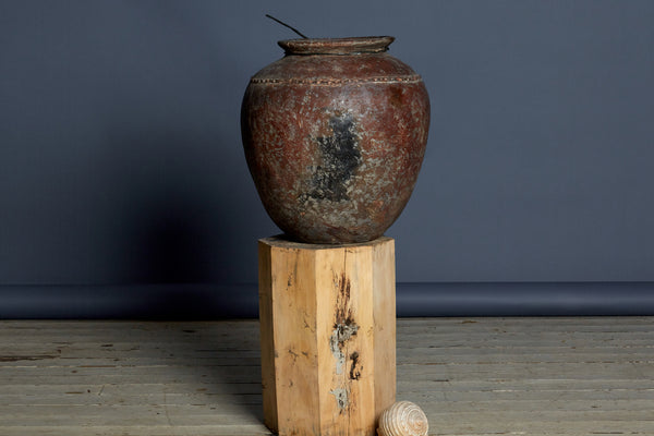 19th Century Sumatran Water Jar with Twisted Band on Shoulder