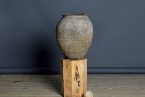 Lime Washed Terra Cotta Water Jar from Sumatra