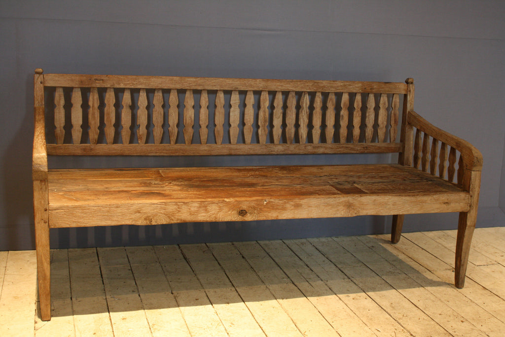Picket Style Dutch Colonial Teak Bench