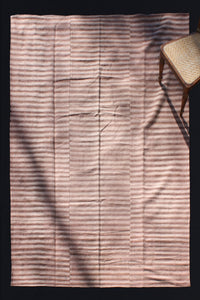 Light And Dark Pink Striped Wool Carpet .......... (6' x 9' 4'')