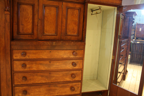 19th Century Edwardian English Gentlemens Cupboard