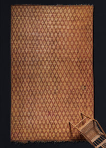 Large Tuareg Reed and Leather Carpet.............. ( 9' 8'' x 14' 7'')