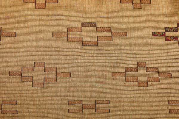 Tuareg Carpet of Poly Chromed Leather and Reed.............. (8' 3'' x 14' 1'')