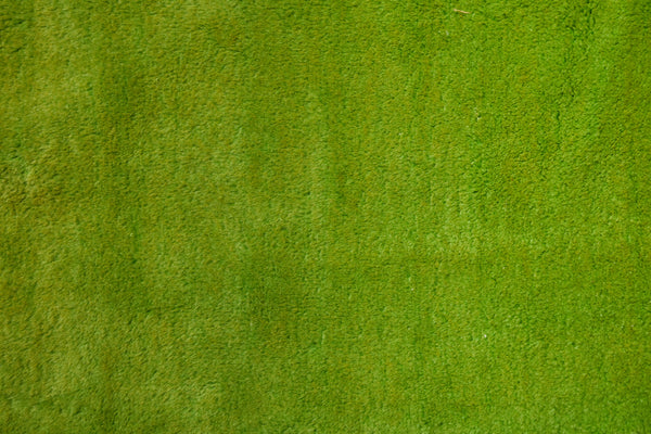 Bright Green Turkish Sofra Carpet ca 1940 (6'10'' x 9'3'')