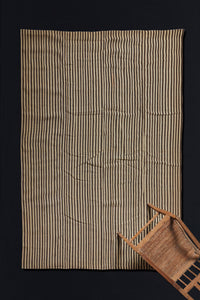 Goat Hair and Wool Striped Anatolian Carpet  (7'4'' x 8'7'')