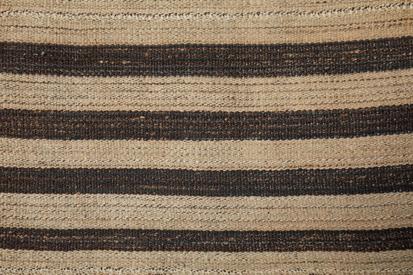 Goat Hair and Wool Striped Anatolian Carpet   (7'7'' x 7'8'')