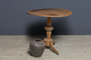 Primitive Round Teak Table from Neis Island