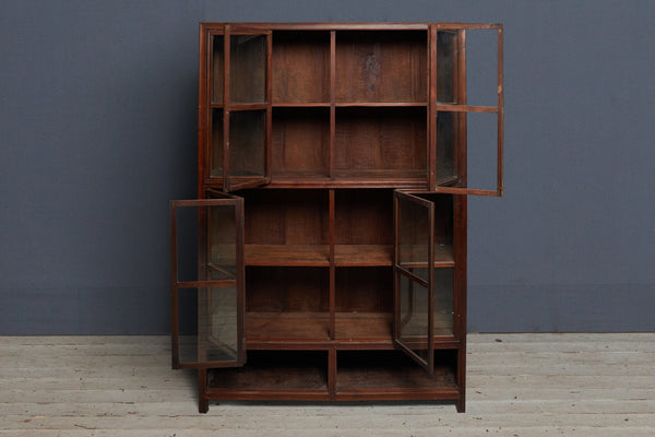 19th Century Teak Dutch Colonial Apothecary Cabinet from Jakarta