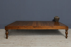 Dutch Colonial Teak Bed Platform from Java