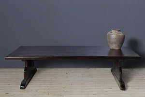 Black Arts & Crafts Teak Coffee Table from Java