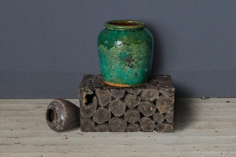 Large Green Glaze Borneo Jar