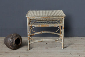1920's French Small Wicker Table from Biarritz