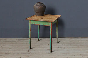 French Bistro Table with Green Painted Base