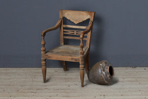 Single Original Teak Raffles Chair