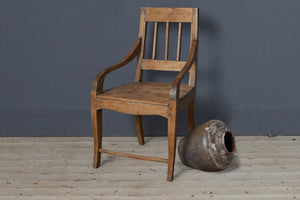 19th Century Teak Dutch Colonial Arm Chair