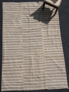 Brown And Natural Cream Striped Mersin With Backing