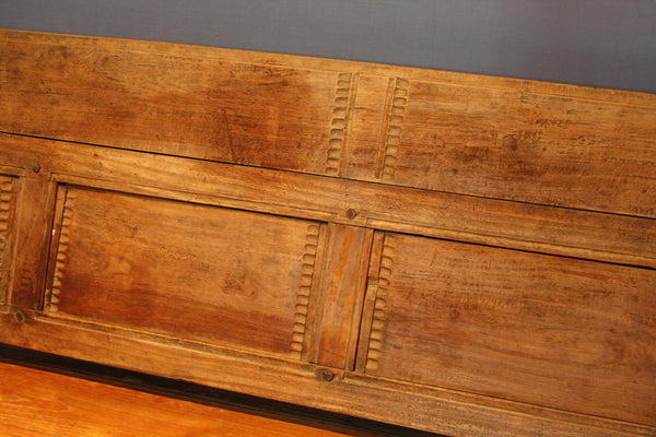 Deep Seated 19th Century Madura Island Teak Bench