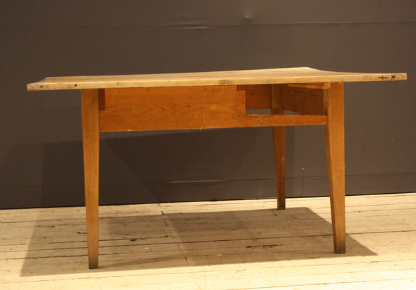 19th Century Square German Pine Table with Missing Drawer