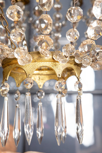 19th Century Gilt Bronze & Crystal French Chandelier
