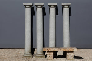 Pair of Grey Granite Doric Columns