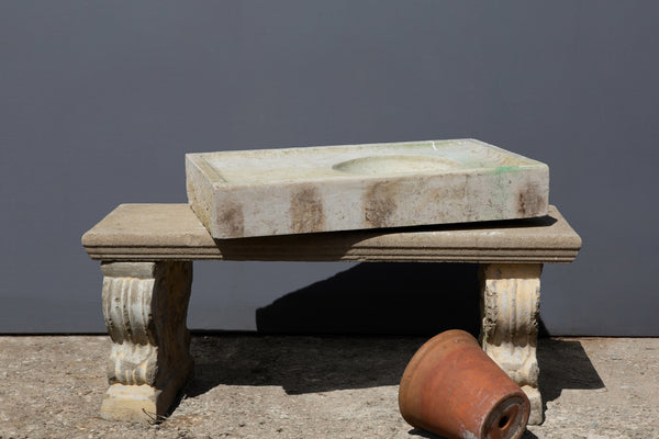Late 18th Cent/ Early 19th Cent. French Cassis Stone Sink from a Single Block