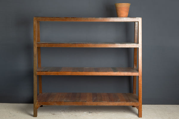 Teak Store Display Shelf