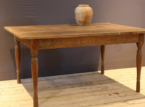 19th Century Dutch Colonial Teak Table with 3 Board Top with Molded Edge and Cut in Frame