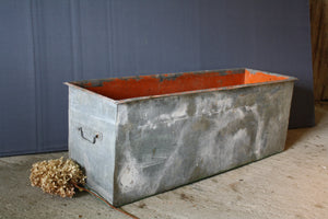 Long Rectangular French Zinc Planter