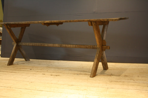 Mid 19th Century Pine Oak Italian Farm Table