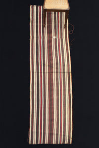 Acik Heybe With Brown, White, Red And Blue Stripes (2' 6'' x 10' 6'')