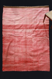 Old Sevas-Red Field with Brown Border on One End (6' 2'' x 9' 2'')