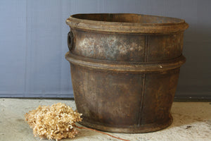 French Tapered Galvanized Iron Pot