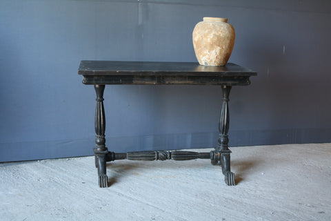19th Century Ebonized Teak Hall Table