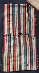 Saddle Bag With Blue, Cream, Red And Brown Stripes