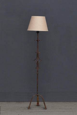 Gilt Iron Spanish Floor Lamp ca 1950