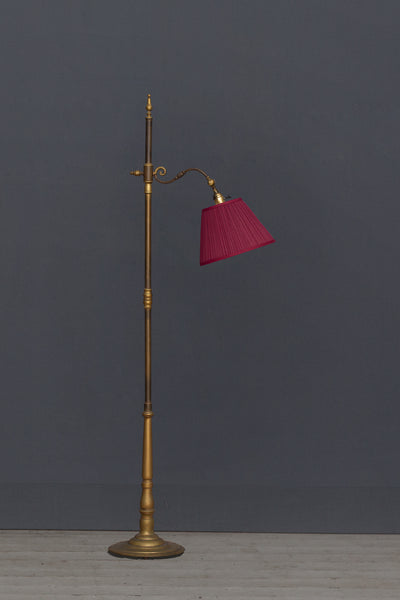 1940's Gooseneck Bronze Spanish Floor Lamp