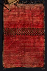 Naturally Dyed Medium Size Chichaoua Pile Carpet (5' 11 x 9' 3'')